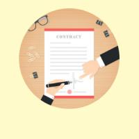 Граждански договор със самоосигуряващо се лице